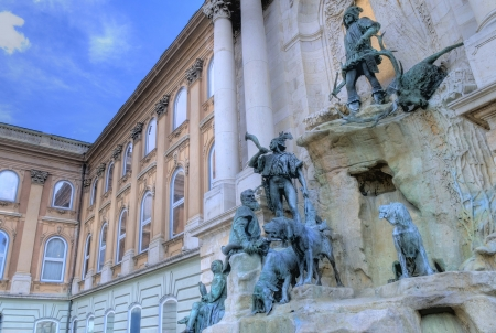 danuba: Statue at the Royal palace in Budapest Hungary on Castale hill