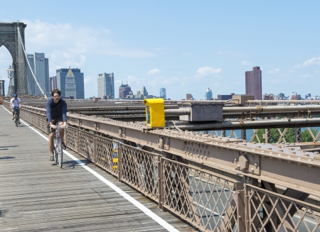 manhatan: NEW YORK - JULY 23 2012 :The Brooklyn bridge in New York city