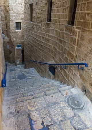 yaffo: Una calle estrecha en la hist�rica ciudad de Jaffa, Israel