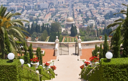 The Bahai gardens in Haifa north Israel Stock Photo - 15621464