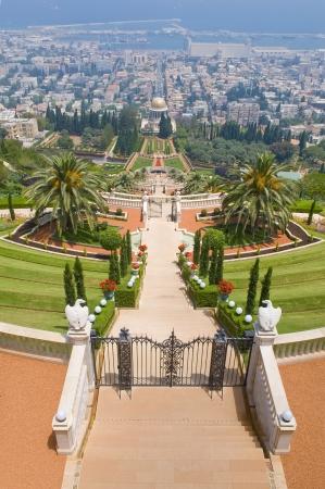 bahai: The Bahai gardens in Haifa north Israel