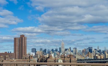 manhatan: View of Manhattan from Brooklyn bridge
