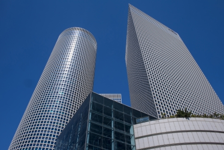 The Azrieli towers in Tel aviv Israel