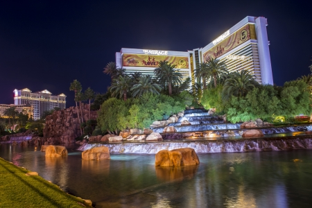 LAS VEGAS - NOVEMBER 08: Mirage hotel and casino on November 08, 2012 in Las Vegas. Las Vegas in 2012 is projected to break the all-time visitor volume record of 39-plus million visitors  Stock Photo - 16532463