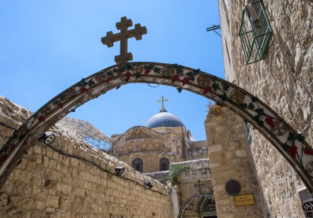 sepulcher: The church of the Holy sepulcher in Jerusalem , Israel Editorial