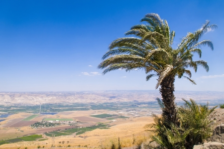 View To Jordan Valley From Ruins Of The Crusader Fortress Belvoir In Lower Galilee, Israel