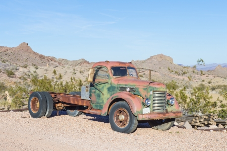 NELSON , USA - NOV 25 : Old rusty truck in Nelson Nevada ghost town on November 25 ,2012 Stock Photo - 17392787