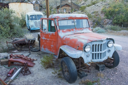 NELSON , USA - NOV 25 : Old rusty trucks in Nelson Nevada ghost town on November 25 ,2012