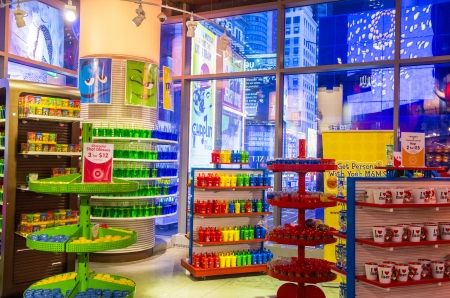 17392809 new york city nov 01 the mm world store in times square new york on november 01 2012 this three level 24000 square foot store is the