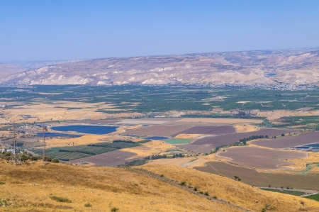 View To Jordan Valley From Ruins Of The Crusader Fortress Belvoir In Lower Galilee, Israel photo