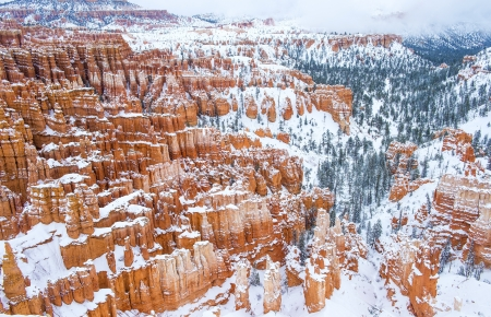 Bryce Canyon National Park, Utah in snow photo