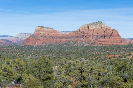Sedona Arizona , area landscape with red sandstone cliffs. photo