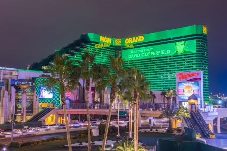 LAS VEGAS - JANUARY 24 : MGM hotel and casino on January 24, 2013 in Las Vegas. The MGM Grand is the third largest hotel in the world and the largest hotel resort complex in the USA Stock Photo - 19133839
