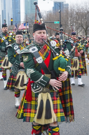 CHICAGO - MARCH 16 : Bagpipers at the annual Saint Patrick