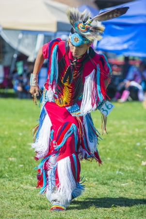pow wow: MARIPOSA ,USA - MAY 11 : Unidentified Native Indian man takes part at the Mariposa 20th annual Pow Wow in California , USA on May 11 2013 ,Pow wow is native American cultural gathernig event.