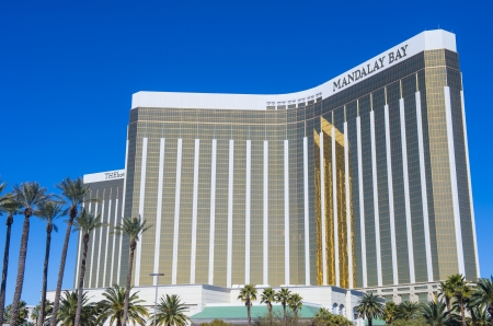 LAS VEGAS - FEB 26 : Mandalay Bay Resort and Casino on February 26, 2013 in Las Vegas. The resort, which opened in 1999, has 3,309 hotel rooms, 24 elevators and a casino of 135,000 sq ft