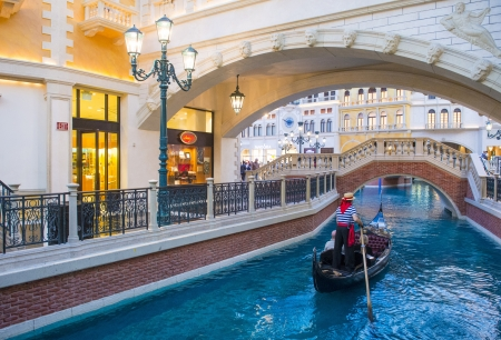 replica: LAS VEGAS - FEB 25 : The Venetian hotel and replica of a Grand canal in Las Vegas on February 25, 2013. With more than 4000 suites it`s one of the most famous hotels in the world