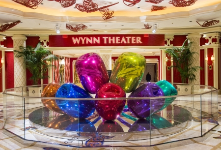 LAS VEGAS -FEB 25 : The Jeff Koons Tulips Sculpture display at the Wynn Hotel in Las Vegas on February 25 2013. The sculpture purchased by Steve Wynn in 2012 for $33.6 million dollars Stock Photo - 22053868