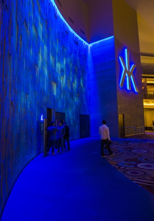 LAS VEGAS - AUG 06 : The Hakkasan Night club in MGM hotel in Las Vegas on August 06 2013. The five-level, 80,000-square-foot venue opend in 2013