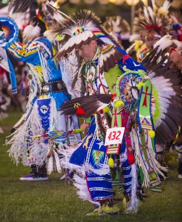 BARONA , CALIFORNIA - AUG 31:Native American men takes part at the Barona 43rd Annual Barona Powwow in California on August 31 2013 ,Pow wow is native American cultural gathernig event.