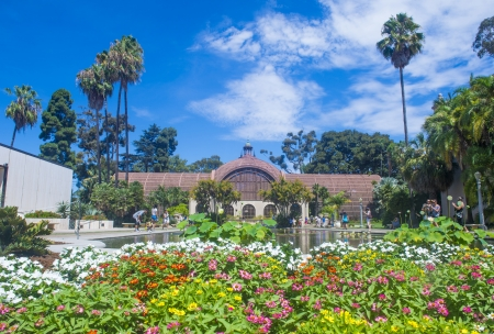 SAN DIEGO , CA - SEP 01 : The Botanical Building in San Diego's Balboa Park on September 01 2013 ,  The building was built in 1915 for the Panama-California Exposition.  Stock Photo - 22541036