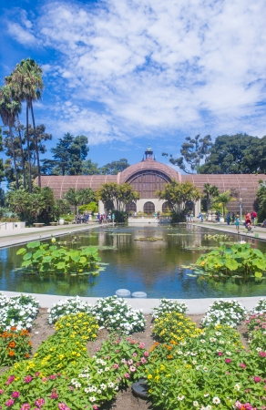 SAN DIEGO , CA - SEP 01 : The Botanical Building in San Diego's Balboa Park on September 01 2013 ,  The building was built in 1915 for the Panama-California Exposition.  Stock Photo - 22541037