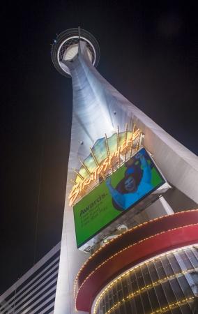 estratosfera: LAS VEGAS - 21 de setembro: A torre Stratosphere em Las Vegas em 21 de setembro de 2013 O Stratosphere Tower