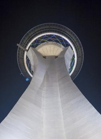 estratosfera: LAS VEGAS - 21 de setembro: A torre Stratosphere em Las Vegas em 21 de setembro de 2013 O Stratosphere Tower � a torre de observa��o mais alta independente nos Estados Unidos Editorial