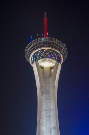 estratosfera: LAS VEGAS - 21 de setembro: A torre da estratosfera em Las Vegas em 21 de setembro de 2013. O Stratosphere Tower