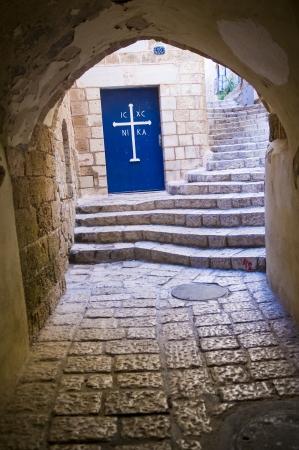 jaffo: A narrow street in historic Jaffa , Israel