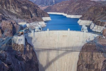 フーバー ・ ダムおよびコロラド川の近くラスベガス、ネバダ州。