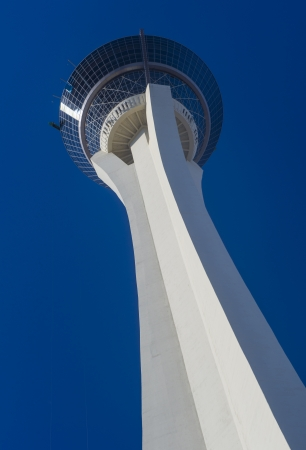 stratosphere: LAS VEGAS - OCT 08 : The Stratosphere tower in Las Vegas on October 08 , 2013. The Stratosphere Tower is the tallest freestanding observation tower in the United States