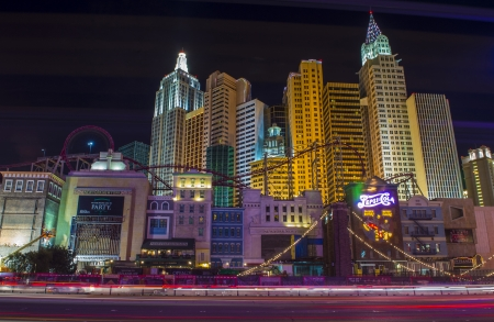 manhatan: LAS VEGAS - OCT 23 : New York-New York Hotel & Casino in Las Vegas on October 23 2013; This hotel simulates the real New York City skyline and It was opened in 1997.