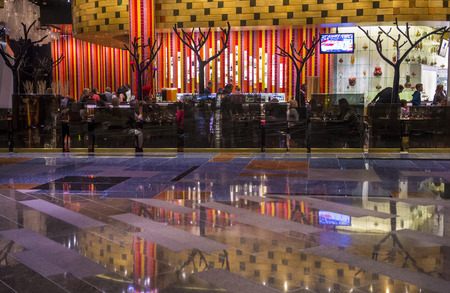 aria: LAS VEGAS - JAN 13 : The interior of Aria Resort and Casino in Las Vegas on January 13 2014. The Aria was opened on 2009 and is the worlds largest hotel to receive LEED Gold certification