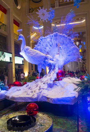 LAS VEGAS - JAN 13 : Holiday installation at the Venetian hotel & Casino in Las Vegas on November 15, 2013. With more than 4000 suites its one of the most famous hotels in the world.