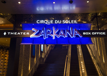 cirque du soleil: LAS VEGAS - JAN 13 : Zarkana at the Aria hotel in Las Vegas on January 13 2014. Zarkana is a Cirque du Soleil stage production written and directed by François Girard.