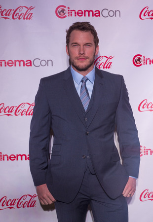 arrives: LAS VEGAS - MARCH 27: Breakthrough Performer of the Year award winner, actor Chris Pratt arrives at The CinemaCon Big Screen Achievement Awards at The Caesars Palace on March 27, 2014 in Las Vegas