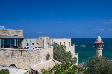yaffo: Opini�n del paisaje marino de la vieja Jaffa Israel Editorial