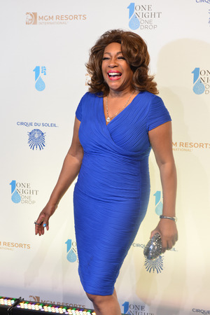 LAS VEGAS - MARCH 21: Singer Mary Wilson arrives at Cirque du Soleils annual One Night for One Drop at the Mandalay Bay Resort and Casino on March 21, 2014 in Las Vegas, Nevada