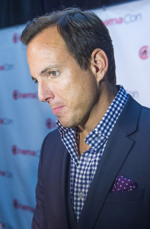 caesars palace: LAS VEGAS, NV - MARCH 24: Actor Will Arnett arrives at the 2014 CinemaCon Paramount opening night presentation at Caesars Palace on March 24, 2014 in Las Vegas, Nevada Editorial
