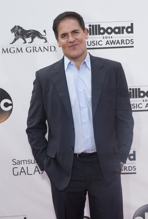 LAS VEGAS - MAY 18 : Businessman Mark Cuban  attend the 2014 Billboard Music Awards at the MGM Grand Garden Arena on May 18 , 2014 in Las Vegas.