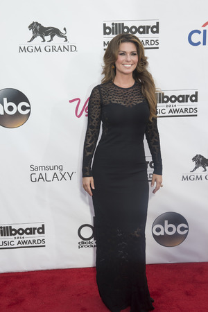 twain: LAS VEGAS - MAY 18 : Singersongwriter Shania Twain attend the 2014 Billboard Music Awards at the MGM Grand Garden Arena on May 18 , 2014 in Las Vegas.
