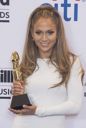 LAS VEGAS - 18 mai: Recording Artist Jennifer Lopez assiste à la 2014 Billboard Music Awards salle de presse au MGM Grand Garden Arena le 18 mai 2014 à Las Vegas. Banque d'images - 28435112