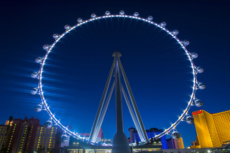 LAS VEGAS - MARCH 15 : The High Roller at the Linq, a dining and shopping district at the center of the Las Vegas Strip on March 15 2014 , The High Roller is the worlds largest observation wheel