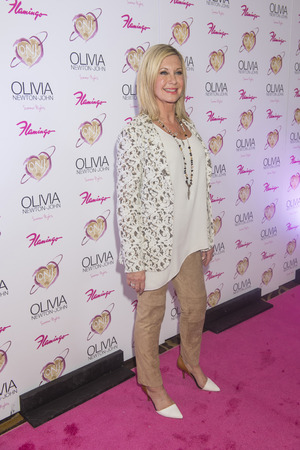 LAS VEGAS, NV - APRIL 11: Entertainer Olivia Newton-John attends the grand opening of her residency show Summer Nights at Flamingo Las Vegas on April 11, 2014 in Las Vega