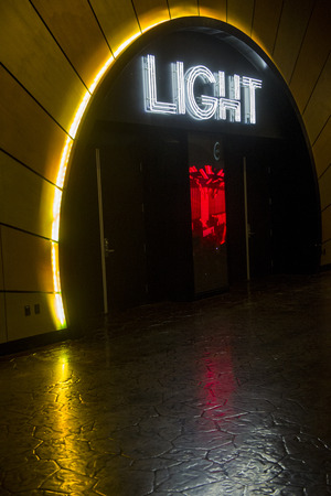 LAS VEGAS - MAY 12 : The Light Night club in Mandalay Bay hotel in Las Vegas on May 12 , 2014. The Light is the first-ever nightclub turned on by Cirque du Soleil. Editorial