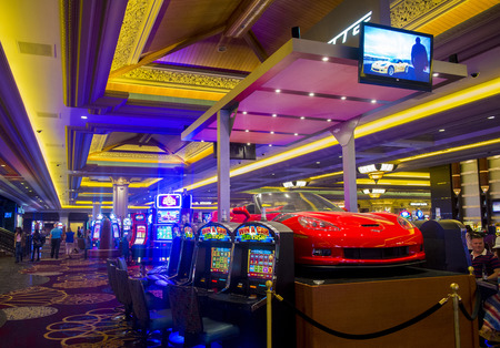 LAS VEGAS - MAY 12 : The interior of Mandalay Bay resort on May 12, 2014 in Las Vegas. The resort, which opened in 1999, has 3,309 hotel rooms, 24 elevators and a casino of 135,000 sq ft