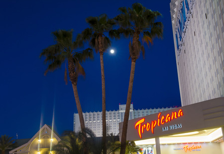 tropicana: LAS VEGAS - MAY 12 : The Tropicana hotel and casino on May 12 , 2014 in Las Vegas. The Tropicana opened in 1957 and it is the one of the oldest hotels on the Las Vegas Strip.  Editorial