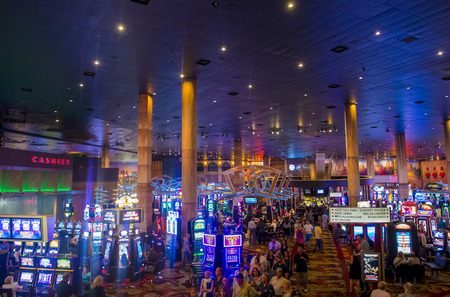 LAS VEGAS - MAY 12 : The interior of New York-New York Hotel & Casino in Las Vegas on May 12 2014; This hotel simulates the real New York City skyline and It was opened in 1997. Editorial