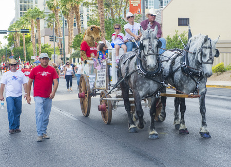 processions: LAS VEGAS - MAY 17 : Participants at the Helldorado Days Parade held in Las Vegas Nevada on May 17 2014 ,the parade celebrating the heritage and diversity of the American West